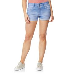 Juniors' WallFlower Sassy Rolled Shorts