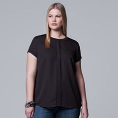 Plus Size Simply Vera Vera Wang Essential Popover Top