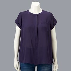 89958c6f9c5 Plus Size Simply Vera Vera Wang Essential Popover Top