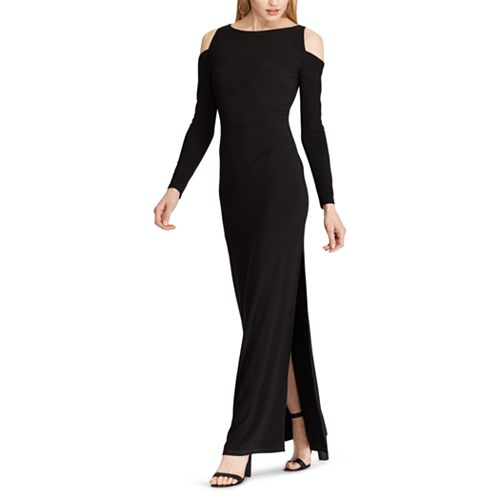 Women's Chaps Cold-Shoulder Full Length Dress