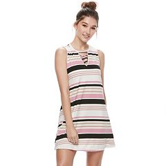 Juniors' Liberty Love Print Lace-Up Dress