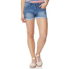 Juniors' WallFlower Double-Button Shorts