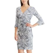 Petite Chaps Ruffle-Sleeve Sheath Dress