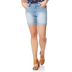 Juniors' Wallflower Rolled Midi Shorts