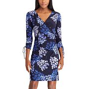 Petite Chaps Floral Jersey Sheath Dress