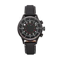 Bulova Men's Accu Swiss Leather Mechanical Watch - 65A107