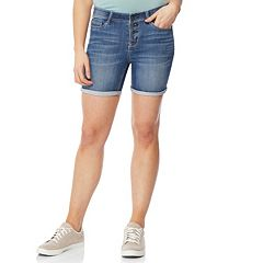 Juniors' Wallflower Insta Soft Cuffed Bermuda Jean Shorts