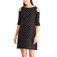 Petite Chaps Shoulder Cutout Shift Dress