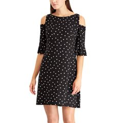 Petite Chaps Shoulder Cutout Shift Dress