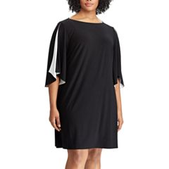 Plus Size Chaps Colorblock Shift Dress