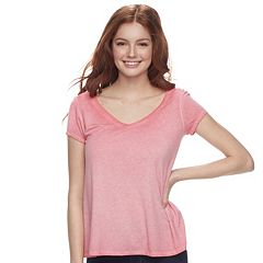 Juniors' SO® Crossback Tee