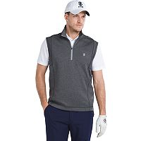 Men's IZOD Performance Golf Durable Water-Repellent Quarter-Zip Pullover Vest