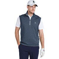 Men's IZOD Performance Golf Durable Water-Repellent Quarter-Zip Pullover Vest