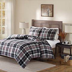 Madison Park Caden Flannel Reversible Comforter Set