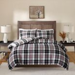 Madison Park Caden Flannel Reversible Duvet Cover Set