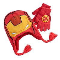 Boys 4-20 Iron Man Hat & Gloves Set
