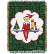 The Elf on the Shelf® Christmas Tradition Tapestry Throw