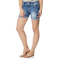 Juniors' Wallflower Luscious Curvy Bling Midi Shorts