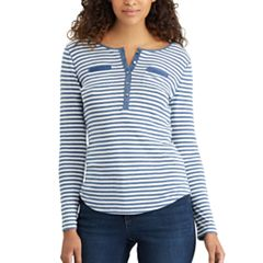 Women's Chaps Pocket Henley
