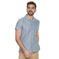Men's Marc Anthony Slim-Fit Resort Stretch Linen-Blend Button-Down Shirt