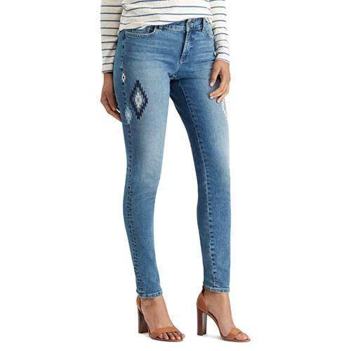 Women's Chaps Flocked Skinny Jeans
