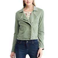 Women's Chaps French Terry Moto Jacket