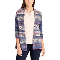 Women's Chaps Fairisle Open-Front Cardigan