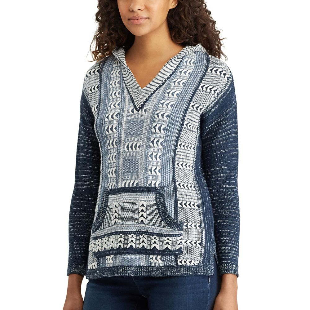 Chaps Marled Hooded Sweater