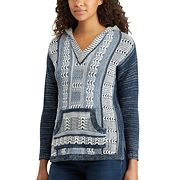 Women's Chaps Marled Hooded Sweater