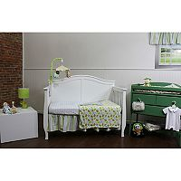 Nurture Basix Blue Striped Birdie 3-pc. Nursery Bedding Set