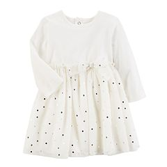 Baby Girl Carter's Foiled Dot Tulle Dress