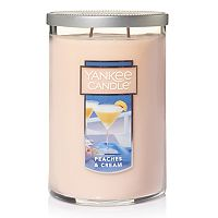 Yankee Candle Peaches & Cream Tall 22-oz. Candle Jar
