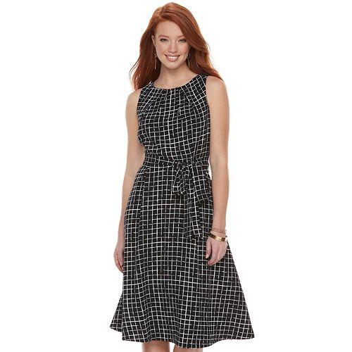 Women's ELLE™ Fit & Flare Midi Dress