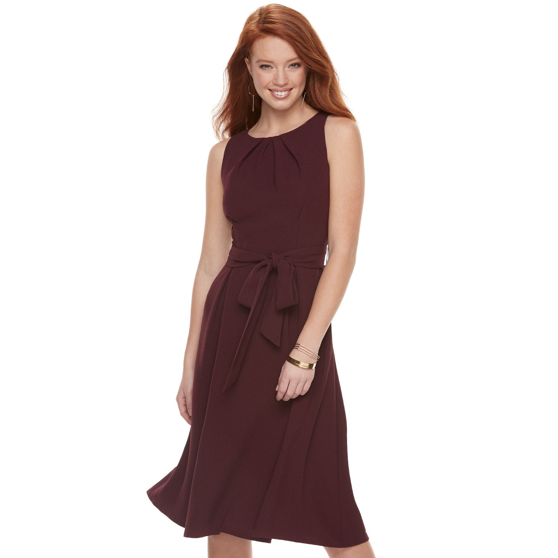 Womenu0027s ELLE™ Fit U0026 Flare Midi Dress