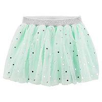 Baby Girl Carter's Foiled Dot Tulle Skirt