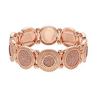 Glitter Disc Stretch Bracelet