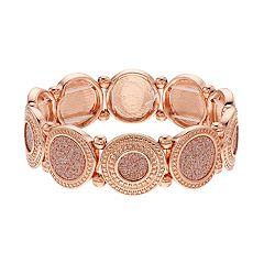 Glitter Disc Stretch Bracelet