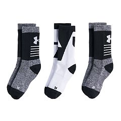 Boys 4-20 Under Armour 3-Pack Phenom Crew Socks