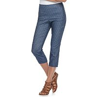 Women's ELLE™ Pull-On Back Seam Capri Pants
