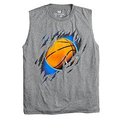 Boys 8-20 Tek Gear® Shredded Basketball Muscle Tee