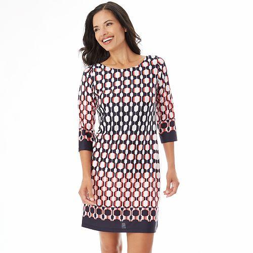 ead6d2939a Women s Apt. 9® Print Shift Dress