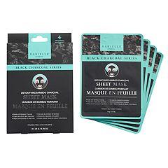 DANIELLE creations Detoxifying Charcoal Sheet Mask 4-Pack