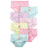 Girls 4-8 Carter's 7-pk Striped Day of the Week Brief Panties