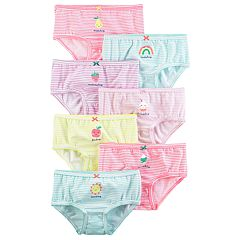Girls 4-8 Carter's 7 pkStriped Day of the Week Brief Panties
