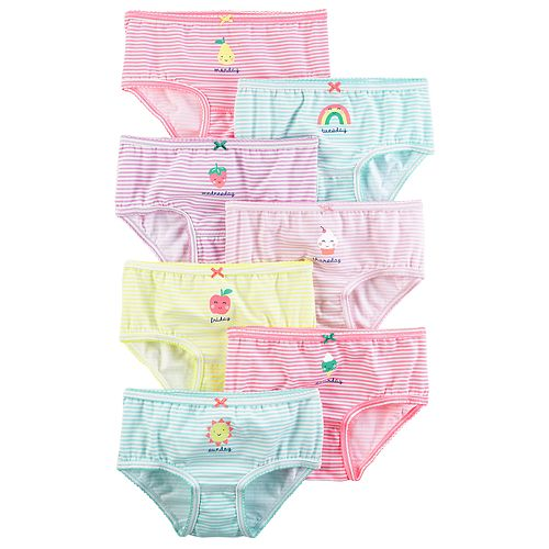 f3822e2c6d68 Girls 4-8 Carter s 7-pk Striped Day of the Week Brief Panties