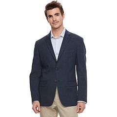 Men's Van Heusen Flex Slim-Fit Linen-Blend Stretch Denim Blue Sport Coat