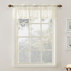 Top of the Window Ariel Medallion Lace Window Valance
