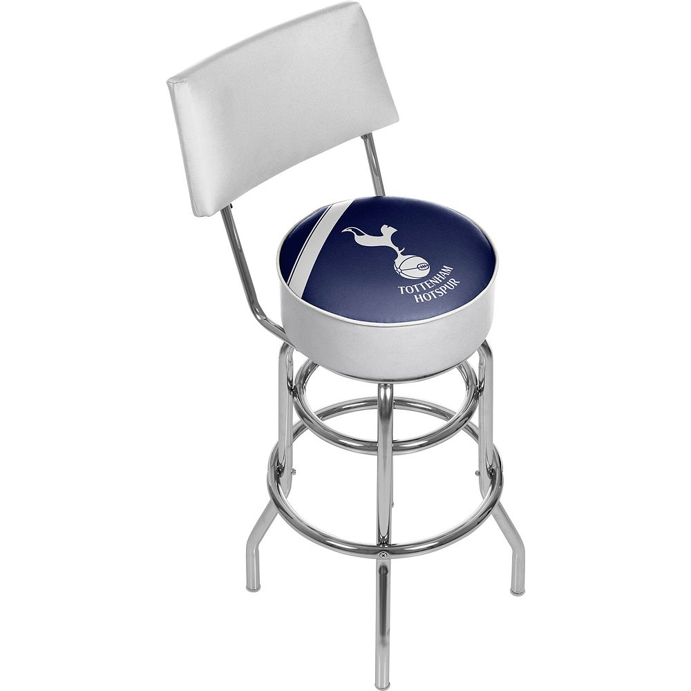 Tottenham Hotspur FC Padded Swivel Bar Stool with Back
