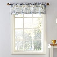 Top of the Window Medallion Tile Sheer Window Valance