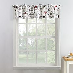 Top of the Window Wine Down Window Valance
